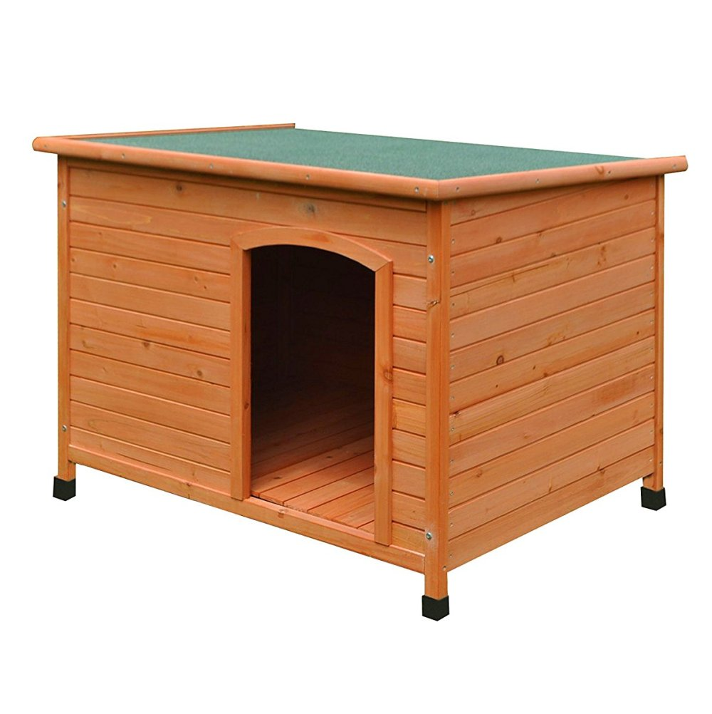 Aleko Large Weatherproof Dog Kennel Pine Pet Shelter