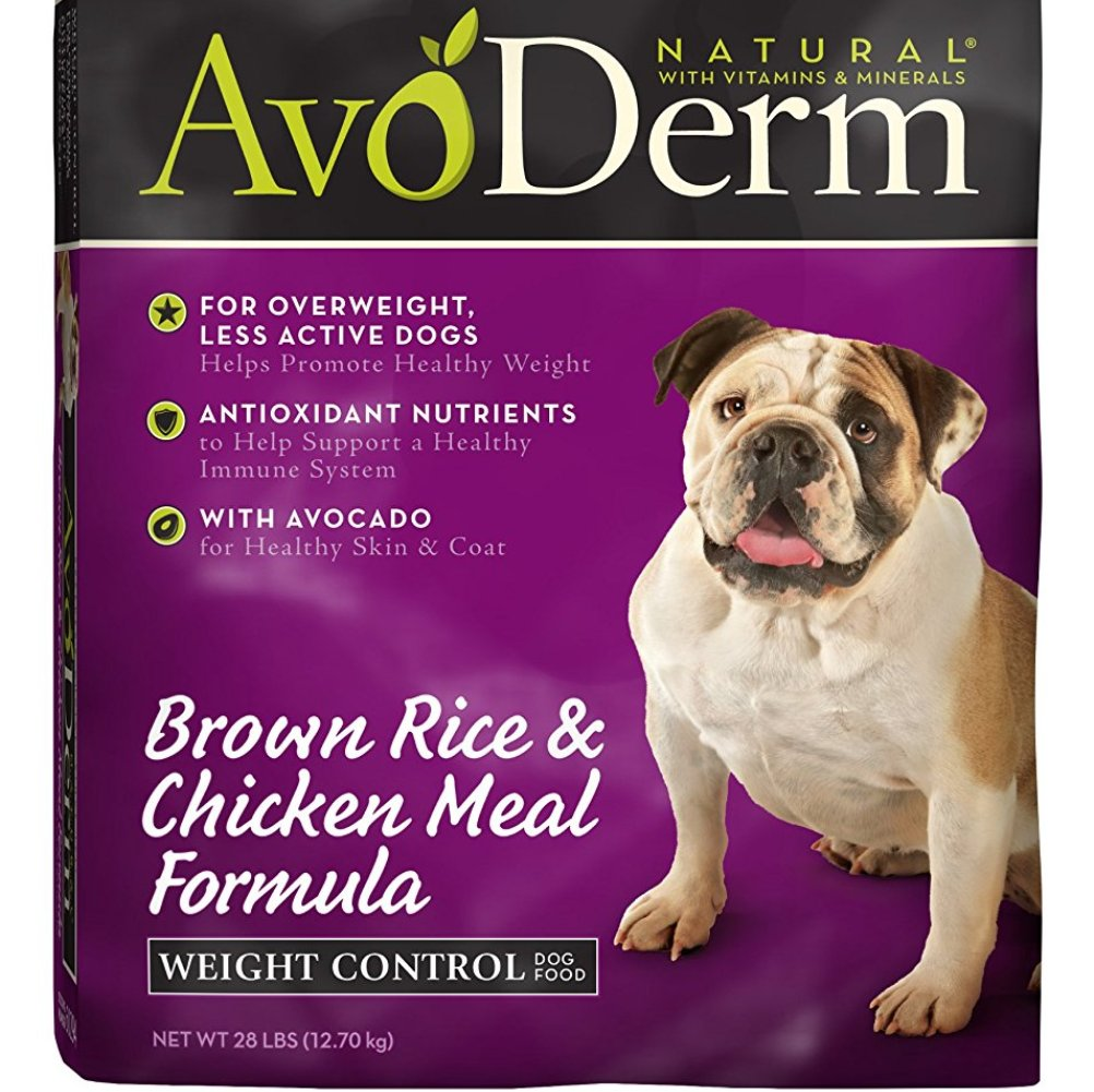 AvoDerm Natural Chicken Meal and Brown Rice Formula Weight Control Dog Food