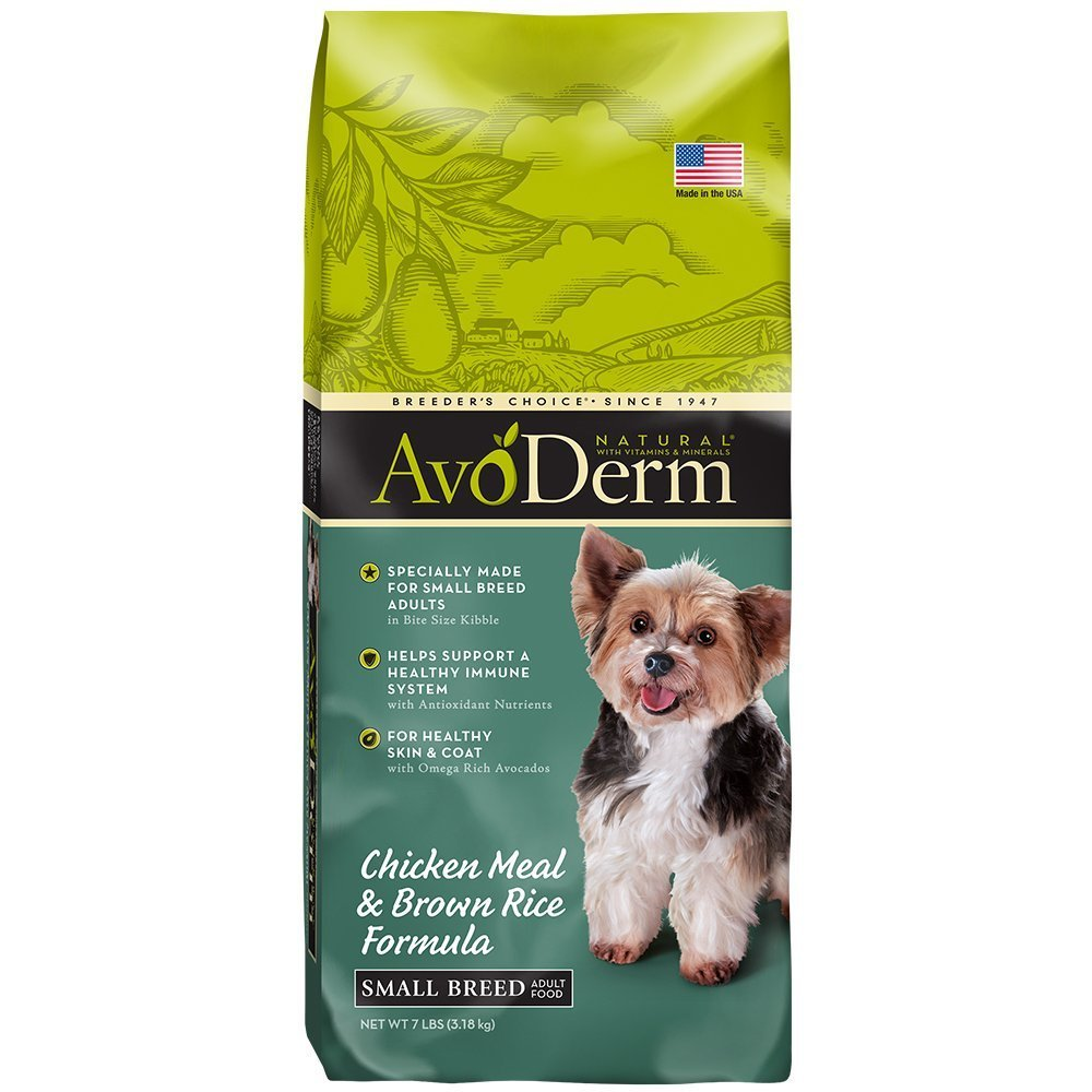AvoDerm Small Breed Dog Food, Natural Chicken Meal and Brown Rice, Formula