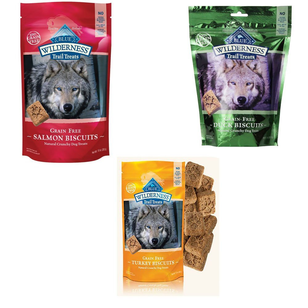 Blue Buffalo Wilderness Dog Trail Treats Biscuits Variety Pack