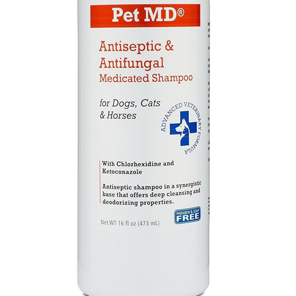 Pet MD – Antiseptic and Antifungal Medicated Shampoo for Dogs