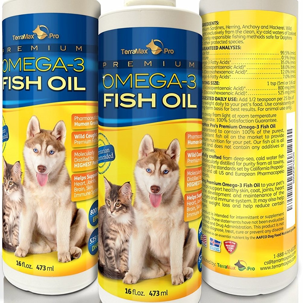Premium Liquid Omega-3 Oil for Dogs and Cats
